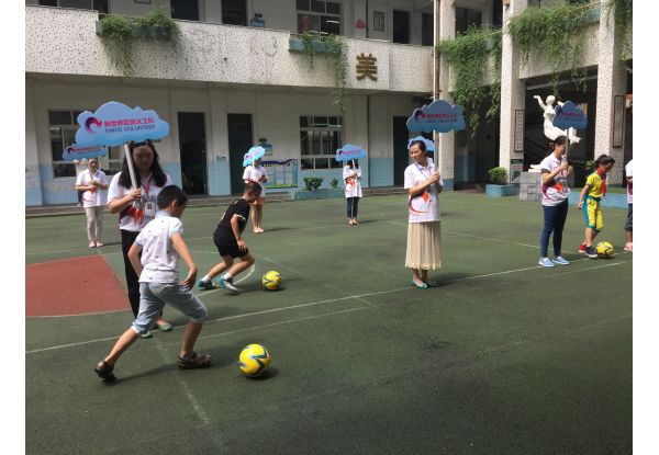 NWDS organized various soccer-inspired competitions and games for over 900 under-resourced children in Mainland China.