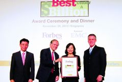 "Accredited as the ""Asia's 200 Best Under A Billon"" by Forbes for the fifth consecutive years"